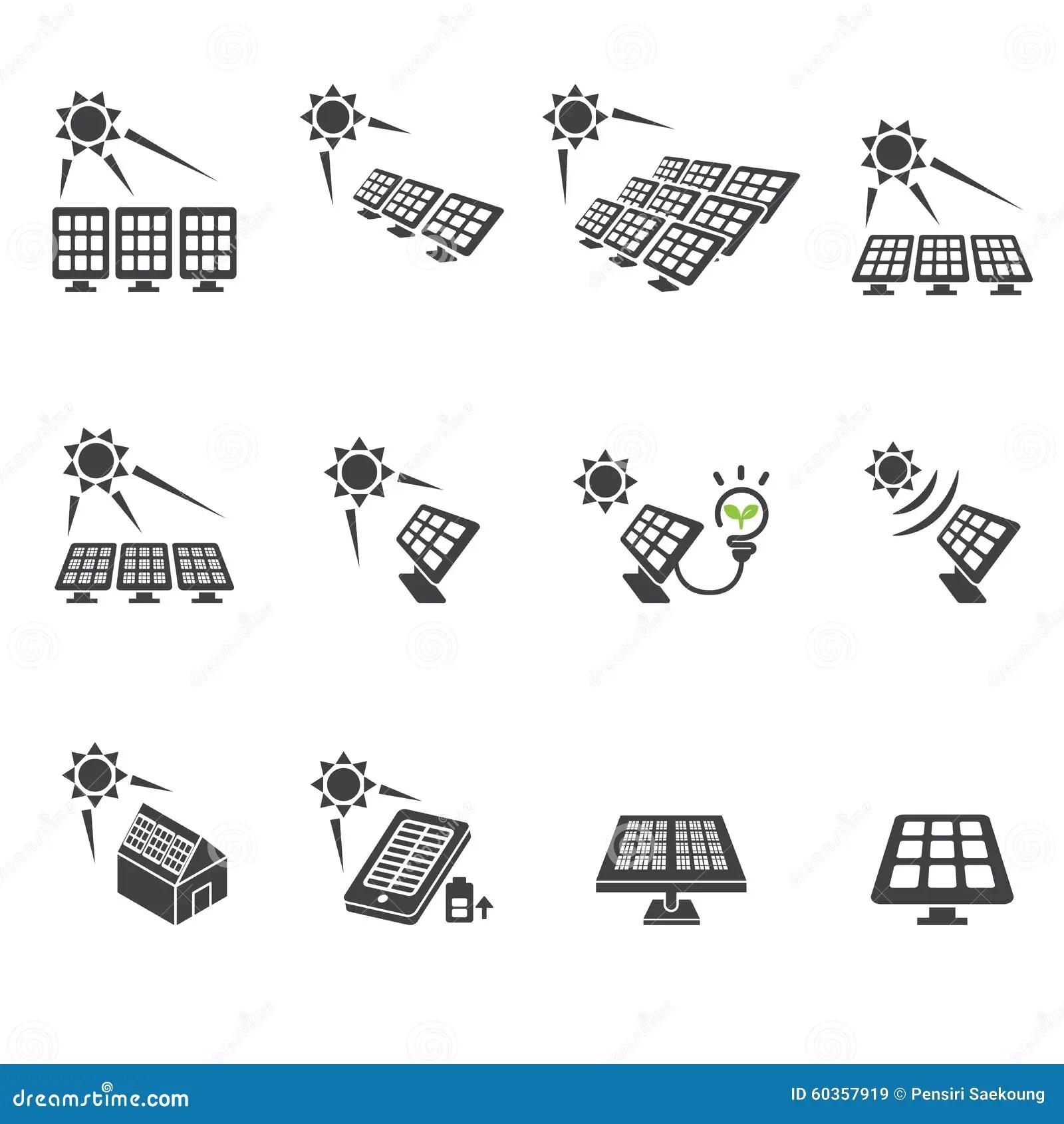 Solar Cell Icon Set Stock Vector Image Of Design Concept
