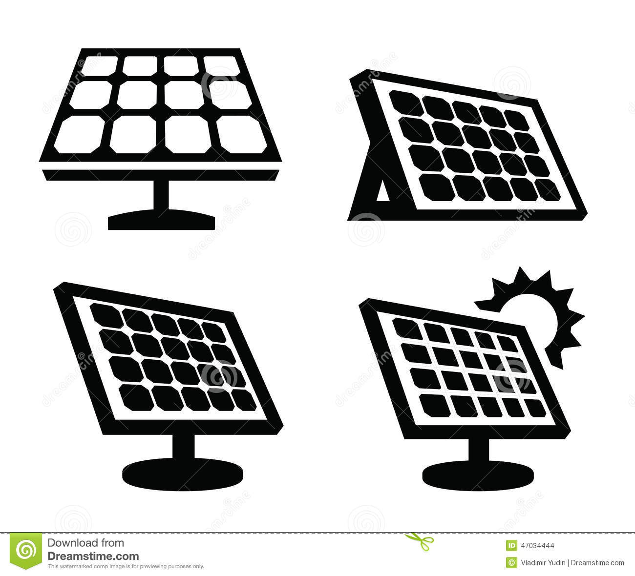 Solar Panel Icon Stock Vector Illustration Of Concept