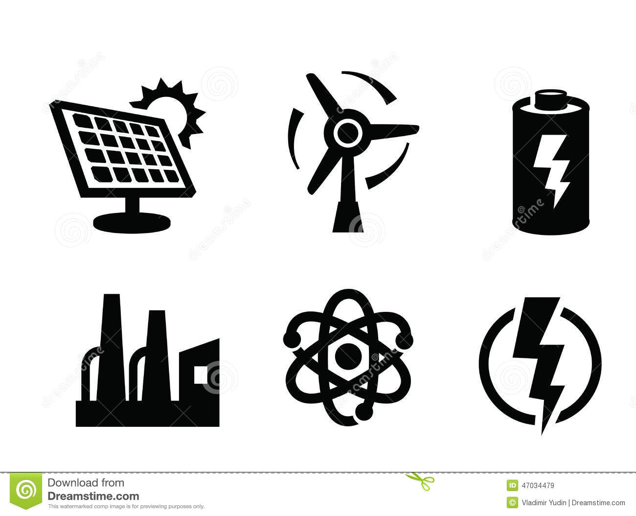 Solar Panel Icon Stock Vector Illustration Of