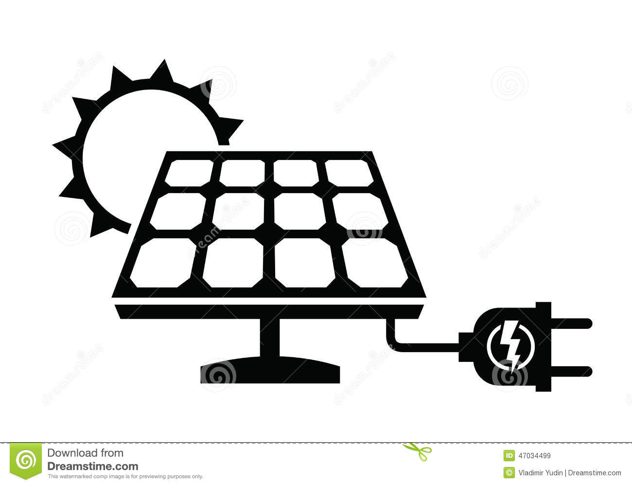 Solar Panel Icon Stock Vector
