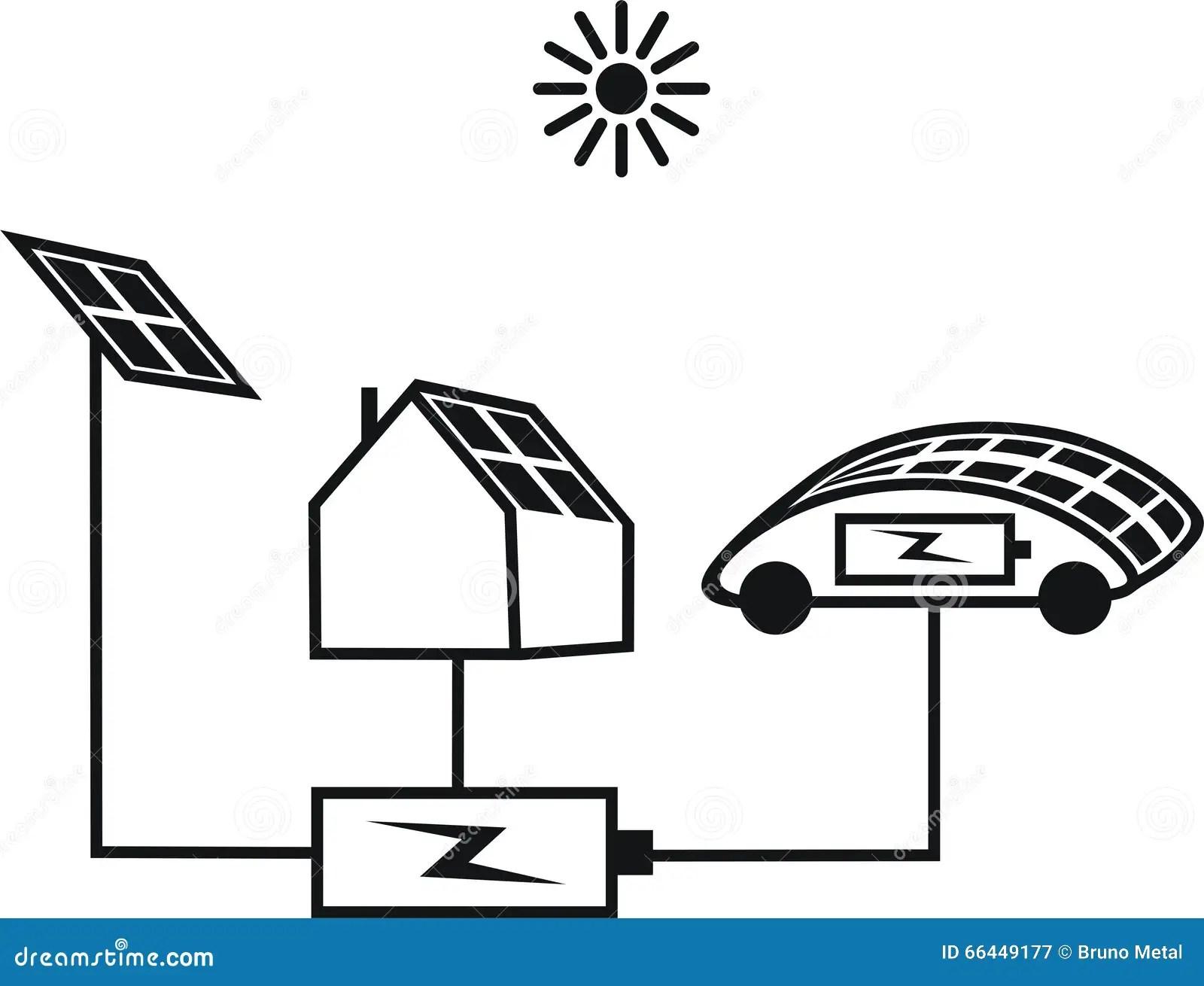 A Solar Panel Stock Vector Illustration Of Station