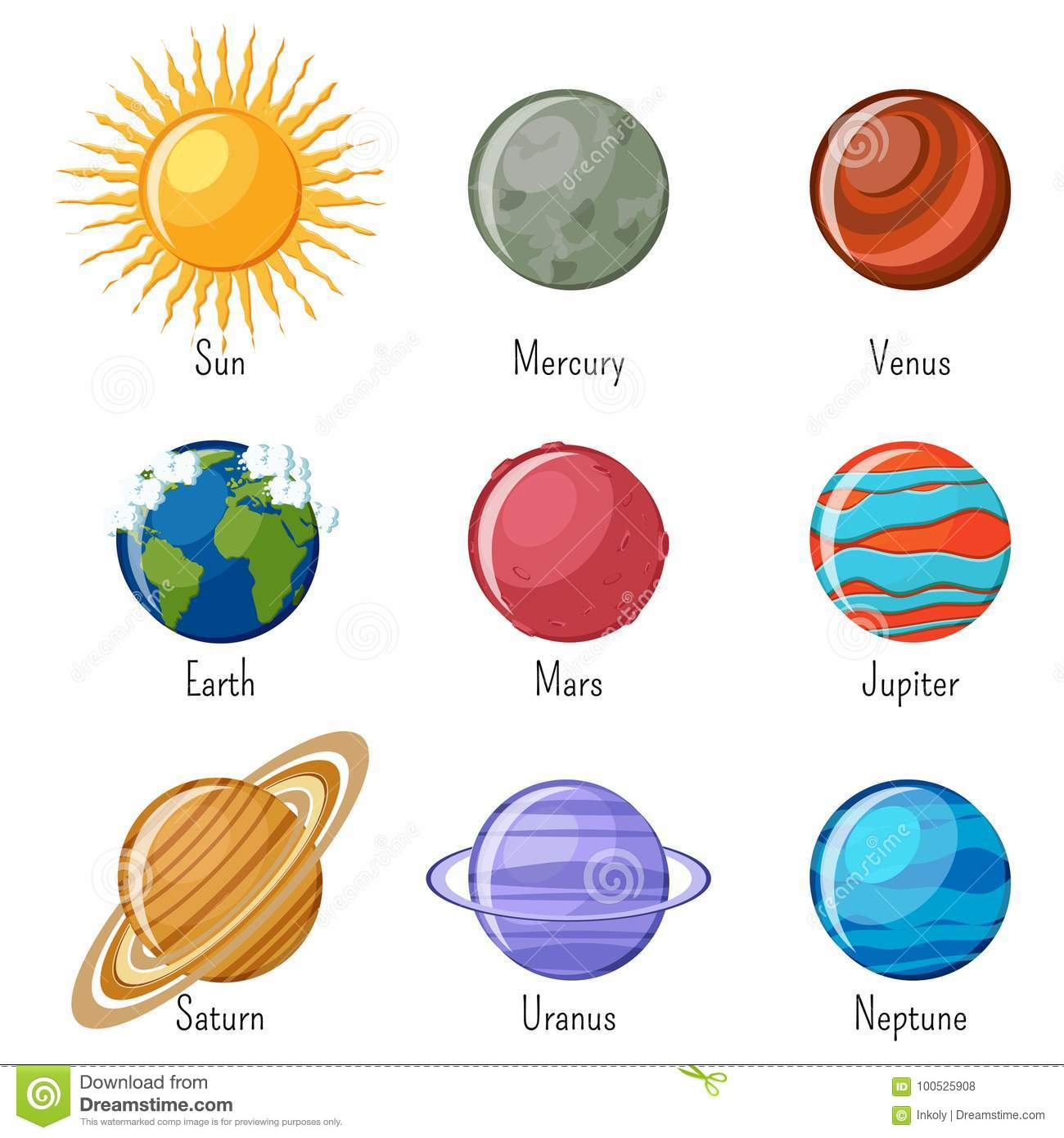 Solar System Kindergarten Worksheet