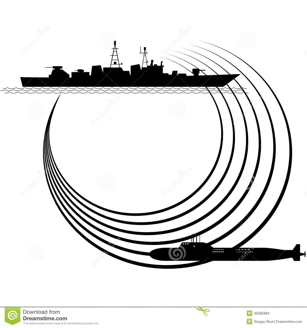 Sonar Stock Vector