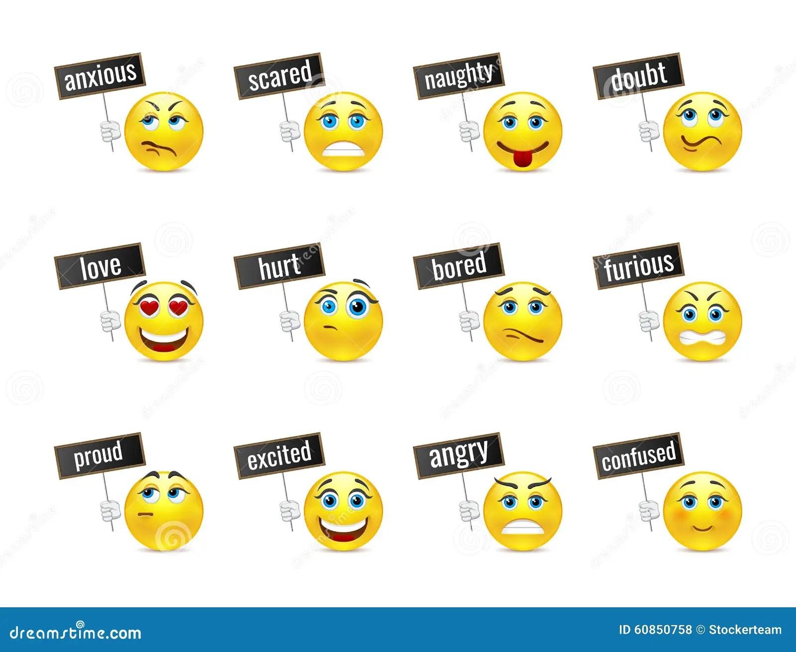 Sourit Les Emotions Illustration Stock Illustration Du