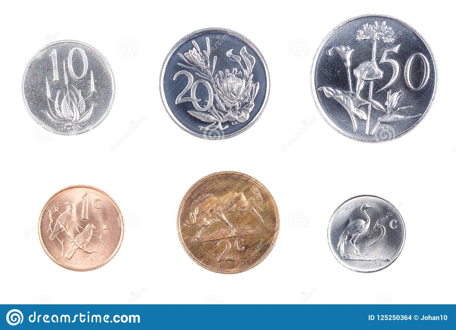 South African Coins Stock Photo Image Of Currency Money