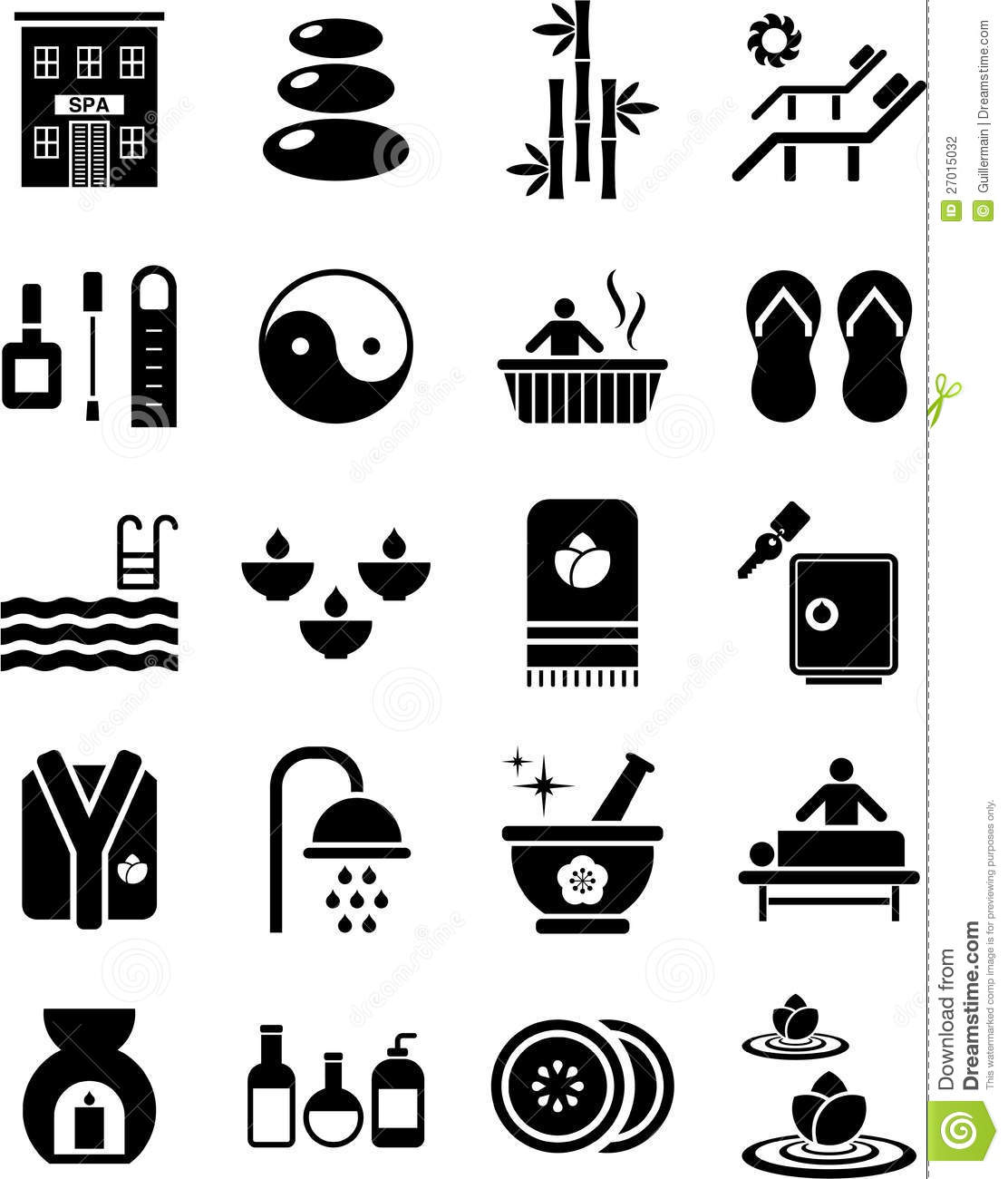 Spa Icons Stock Photography
