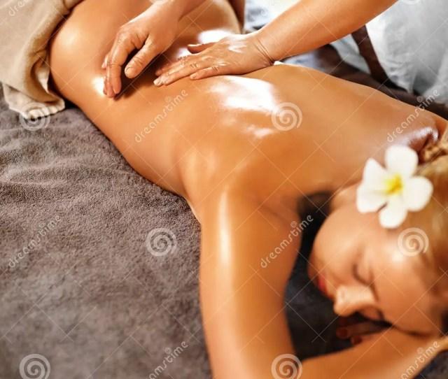 Spa Woman Back Massage Beauty Treatment Body Skin Care Therapy