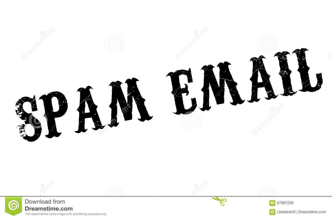 Junk Email Rubber Stamp Cartoon Vector