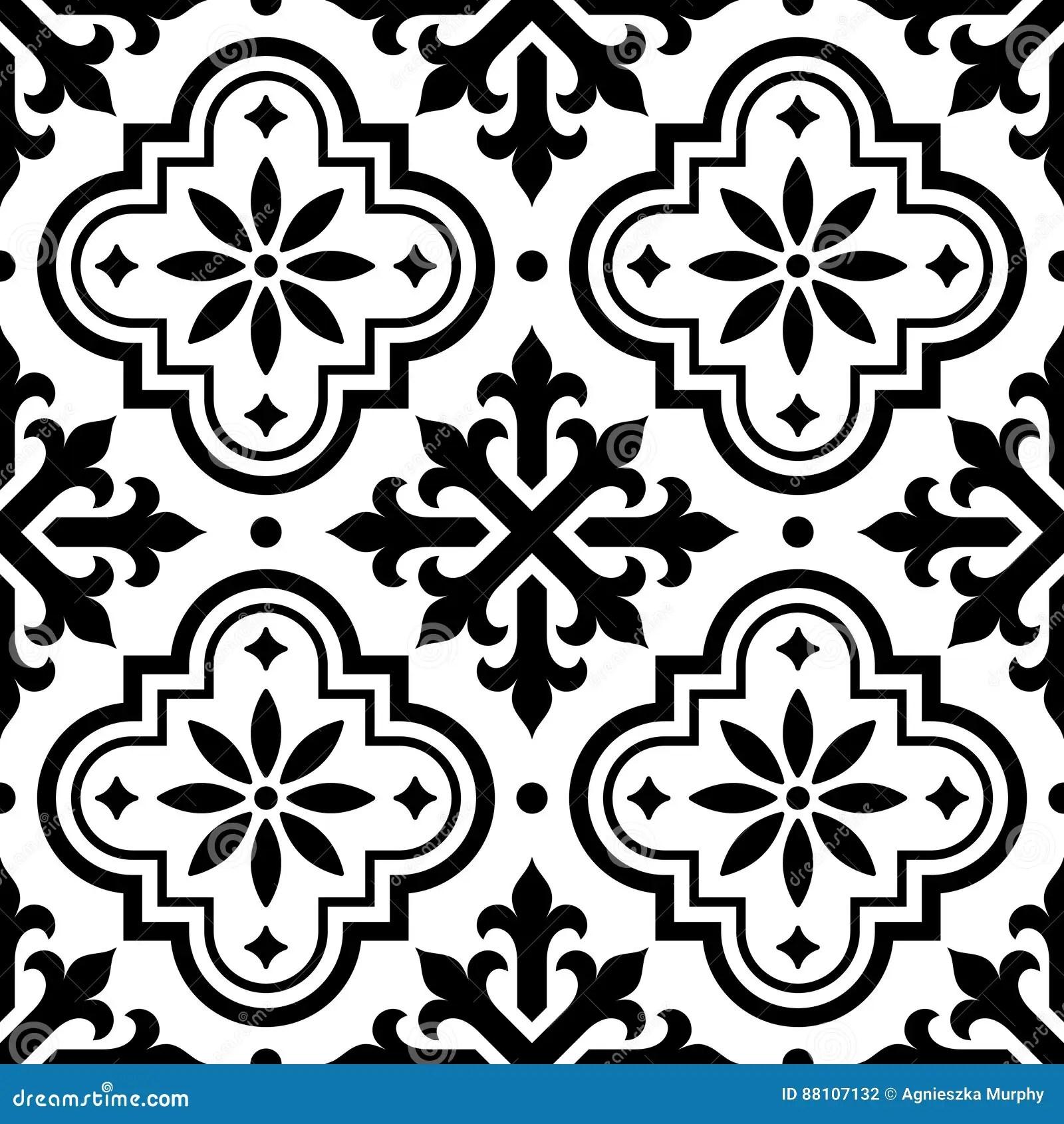 Spanish Tile Pattern Moroccan Tiles Design Seamless