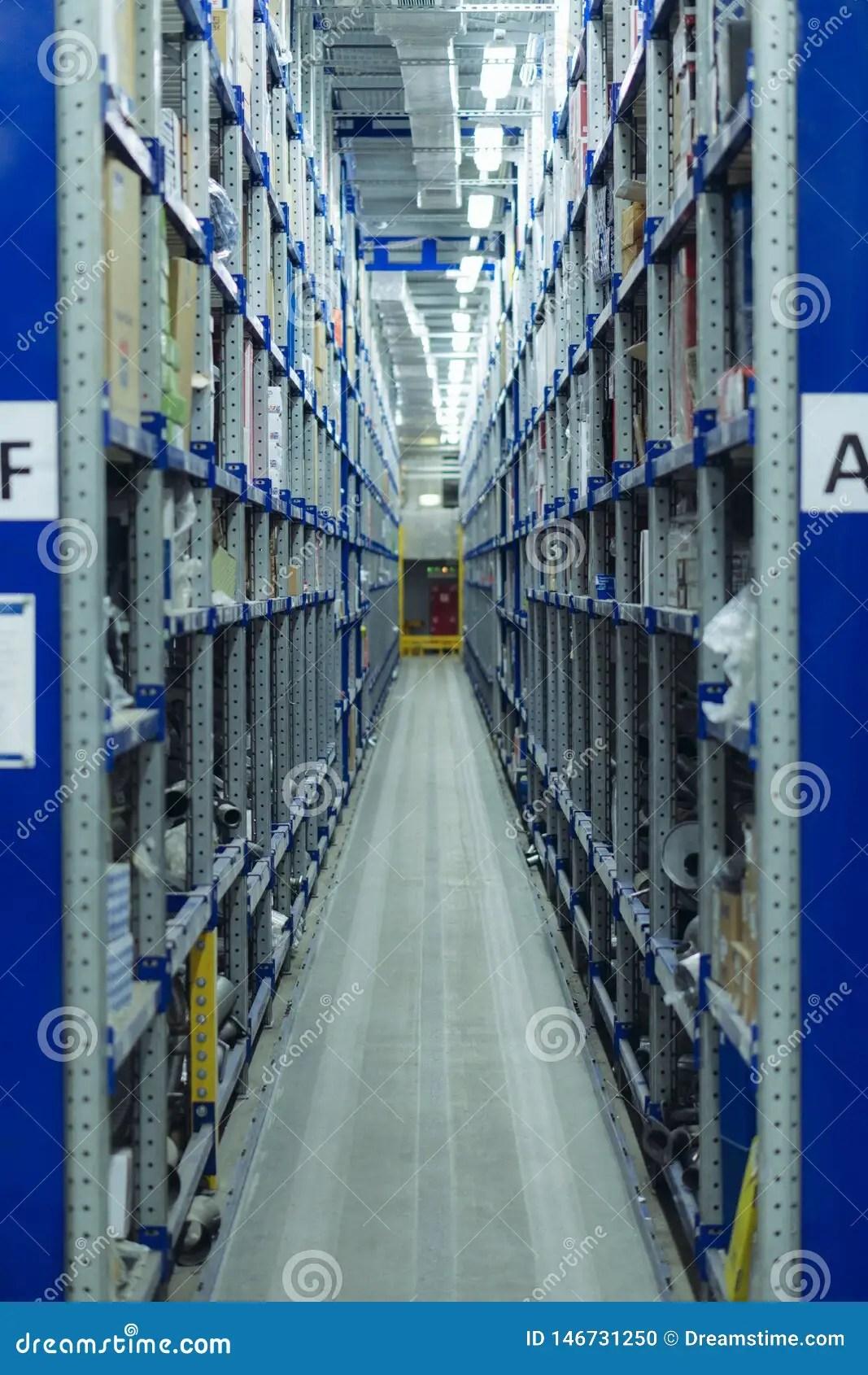 https www dreamstime com spare parts storage racks warehouse car image146731250