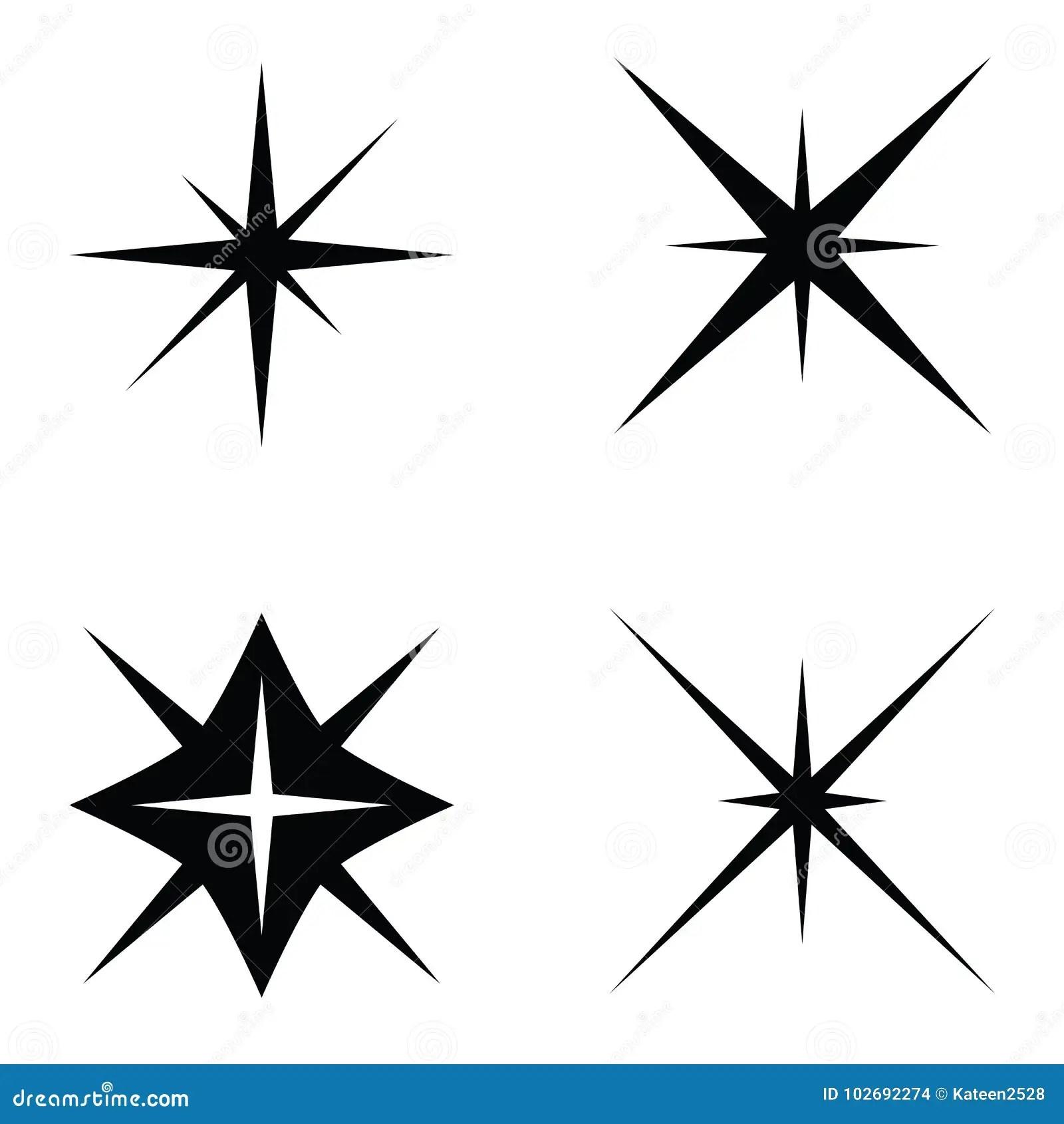 The Spark Icon Set Stock Illustration Illustration Of