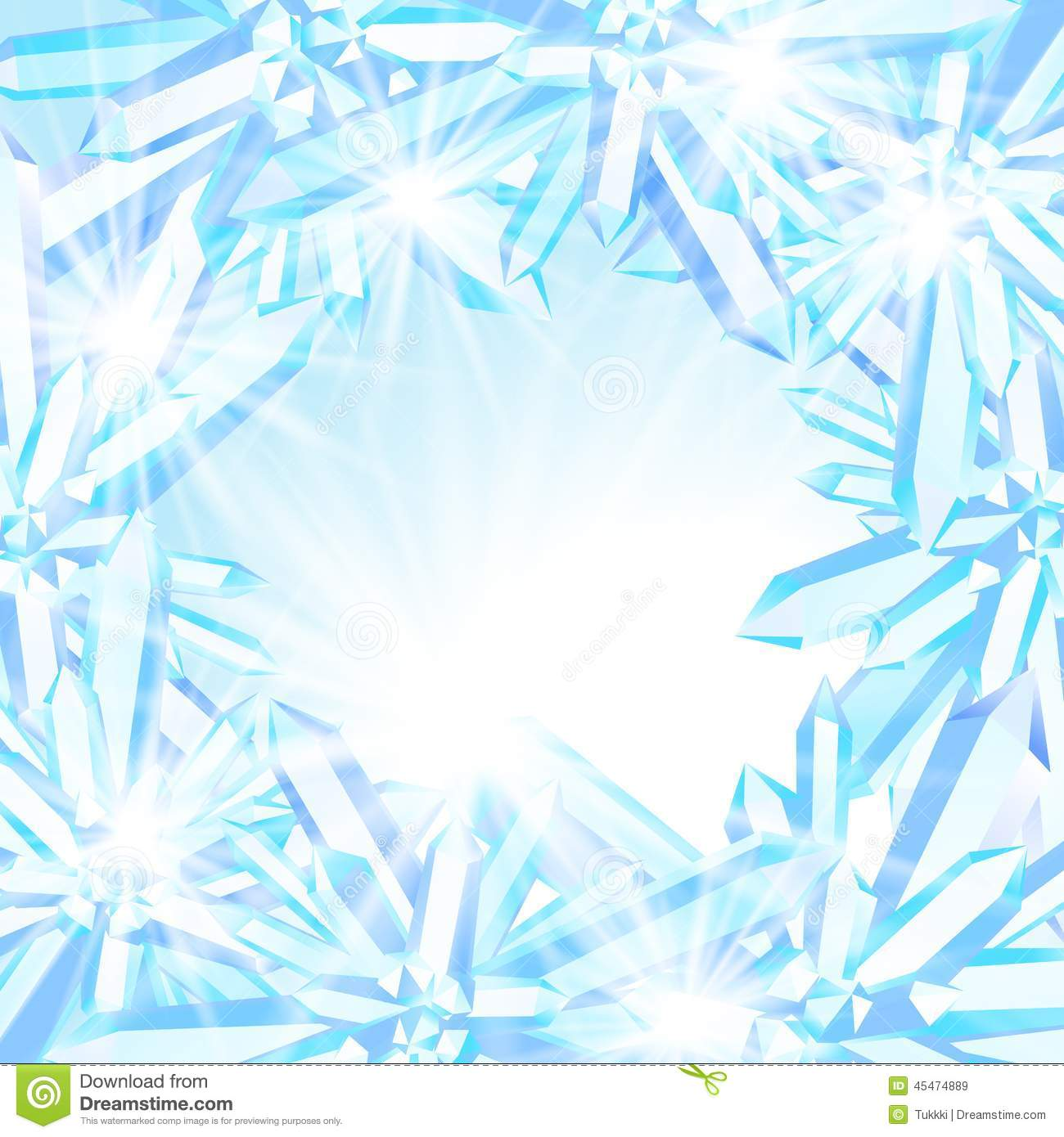 Sparkling Ice Crystals Stock Vector Image 45474889
