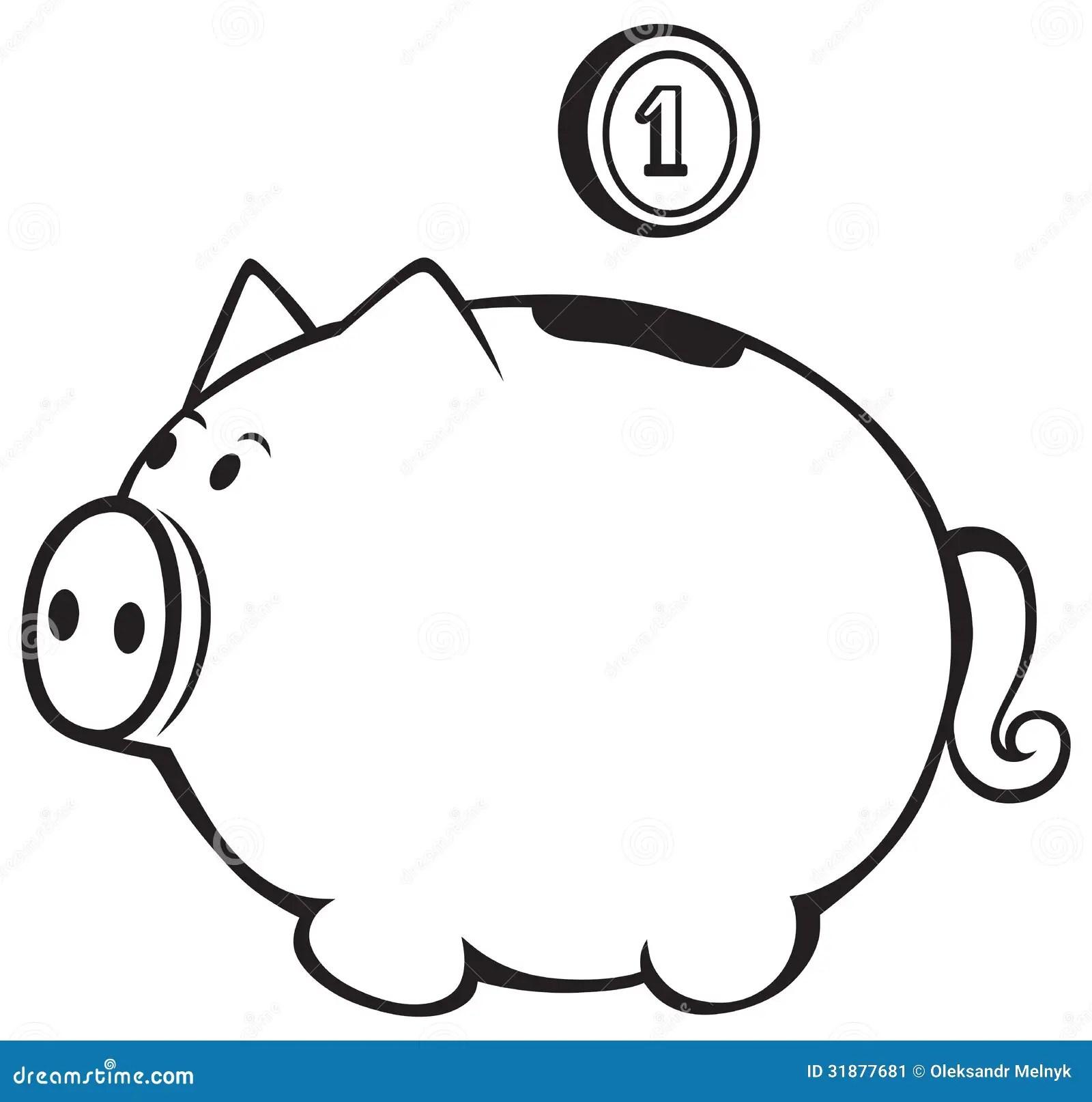 Sparschwein Vektor Abbildung Bild Von Querneigung Zeile
