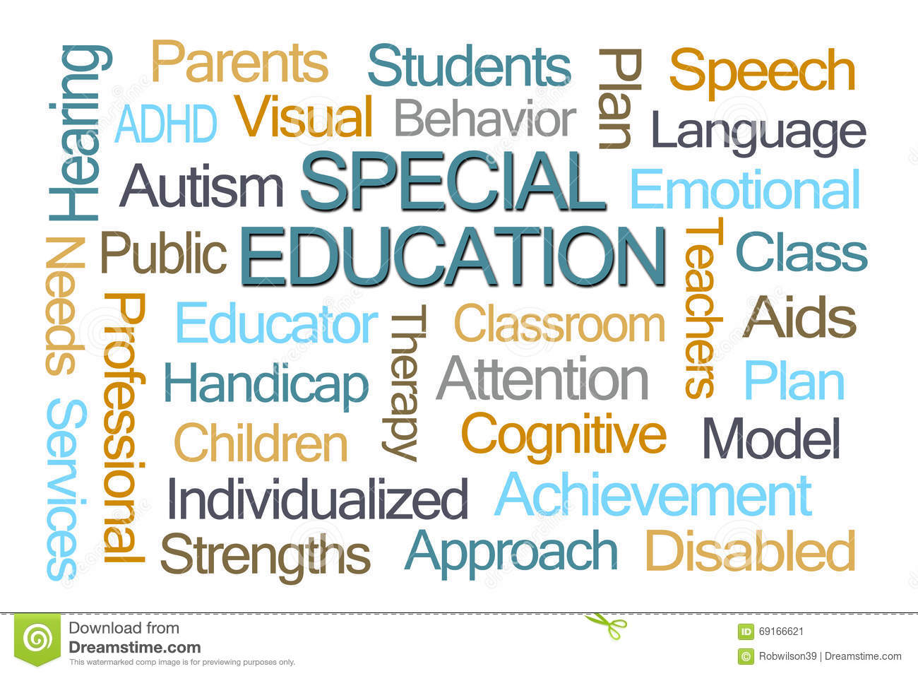 Special Education Word Cloud Stock Image