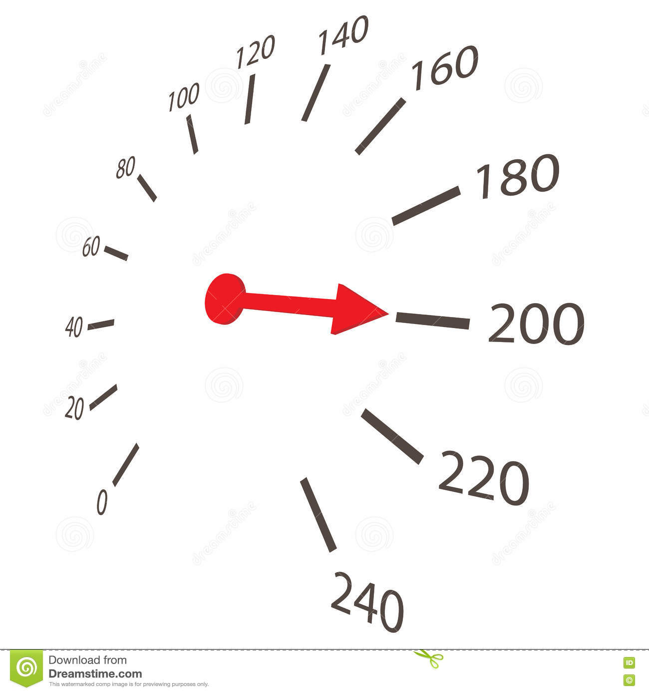 Speedometer Scale Icon Cartoon Style Stock Vector