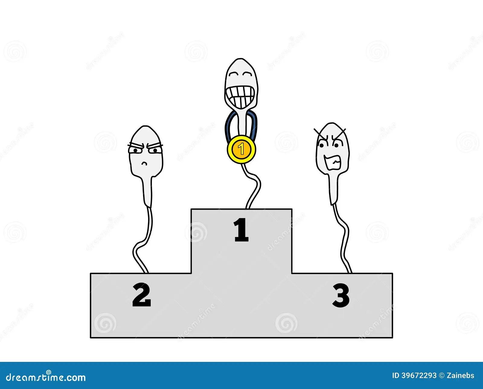 Sperm Winner Stock Vector