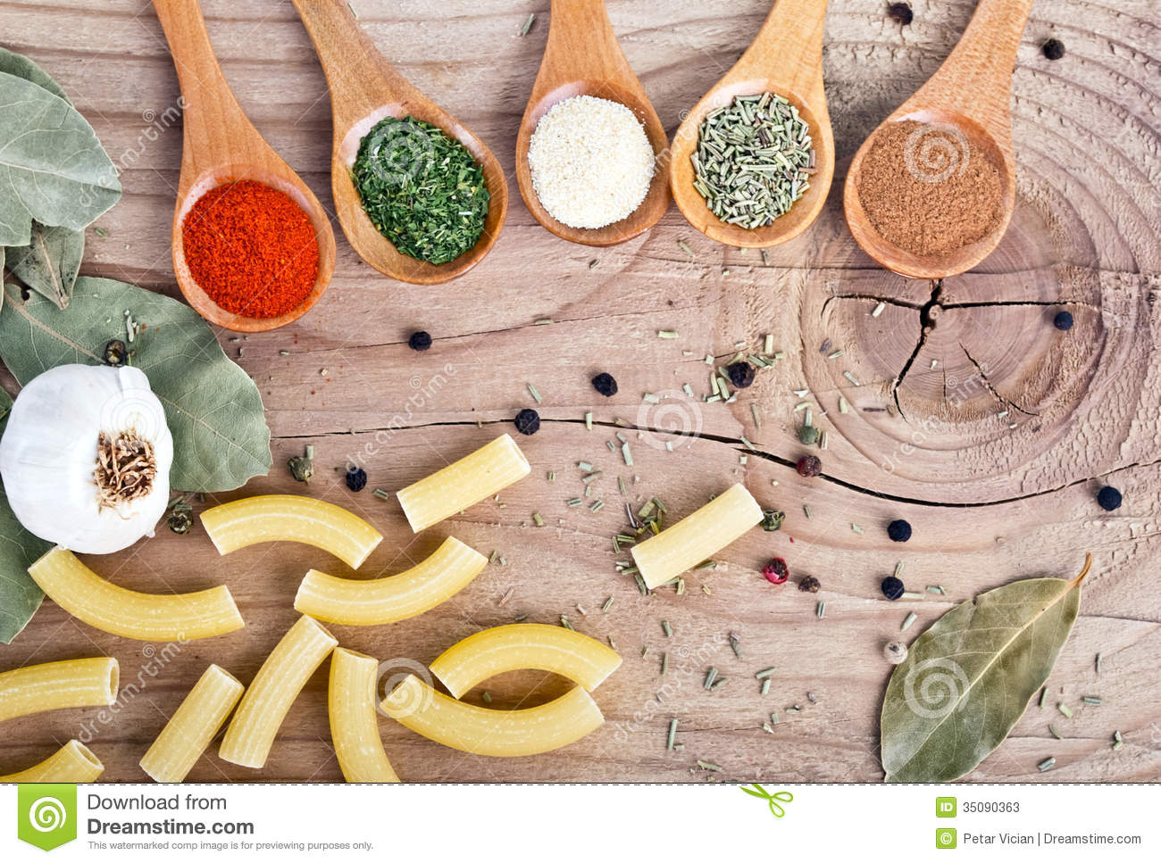 Spices Food Preparation On Table Food Ingre Nts Stock