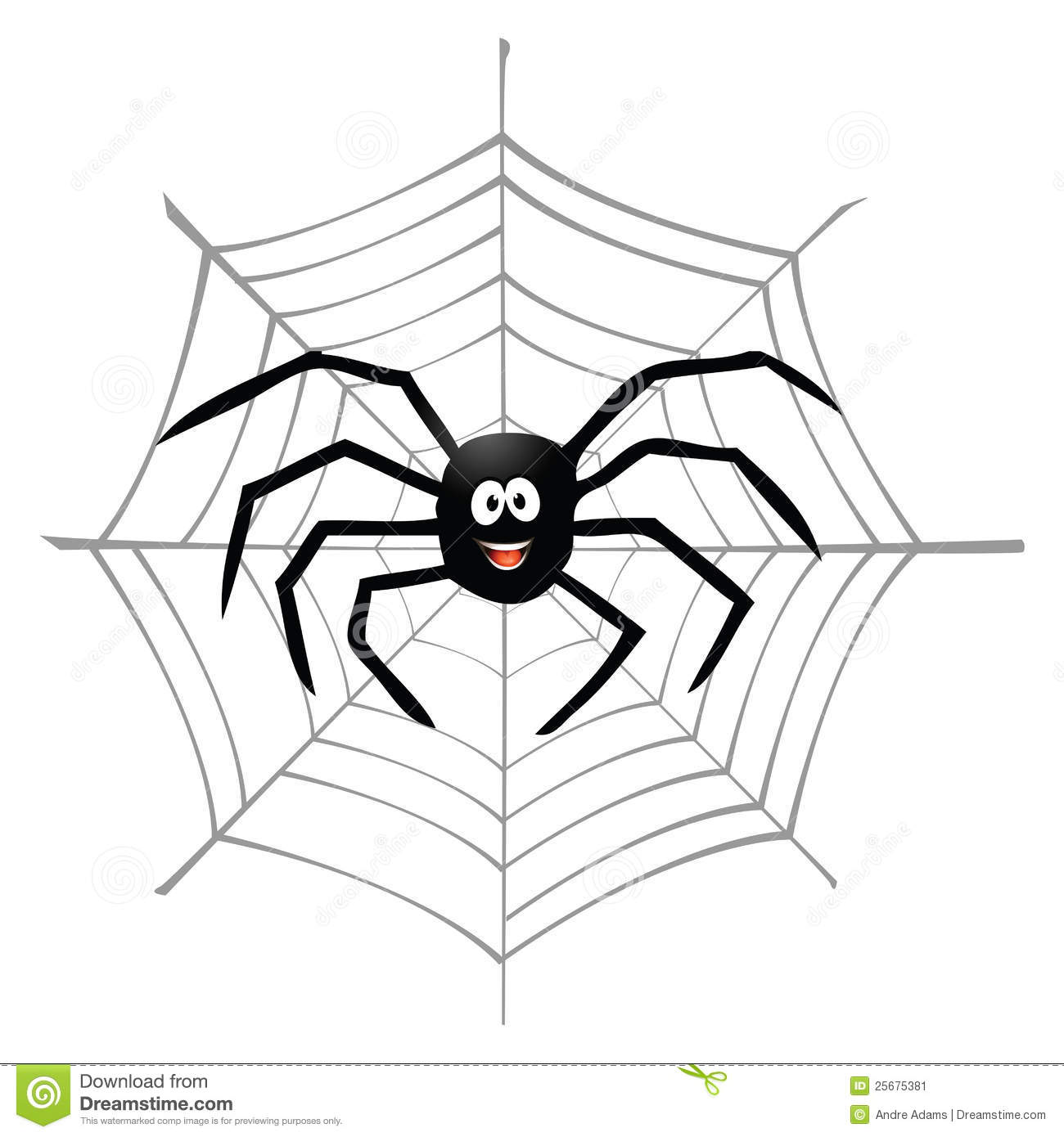 Spider And Spiderweb Stock Vector Illustration Of Spun