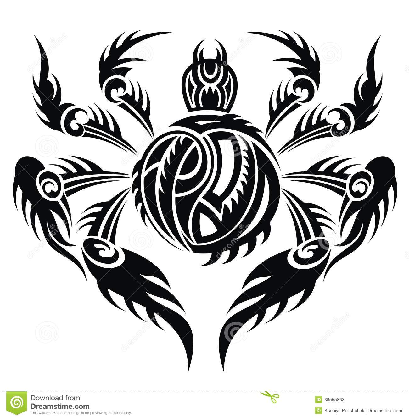 Spider Tattoo Design Stock Vector