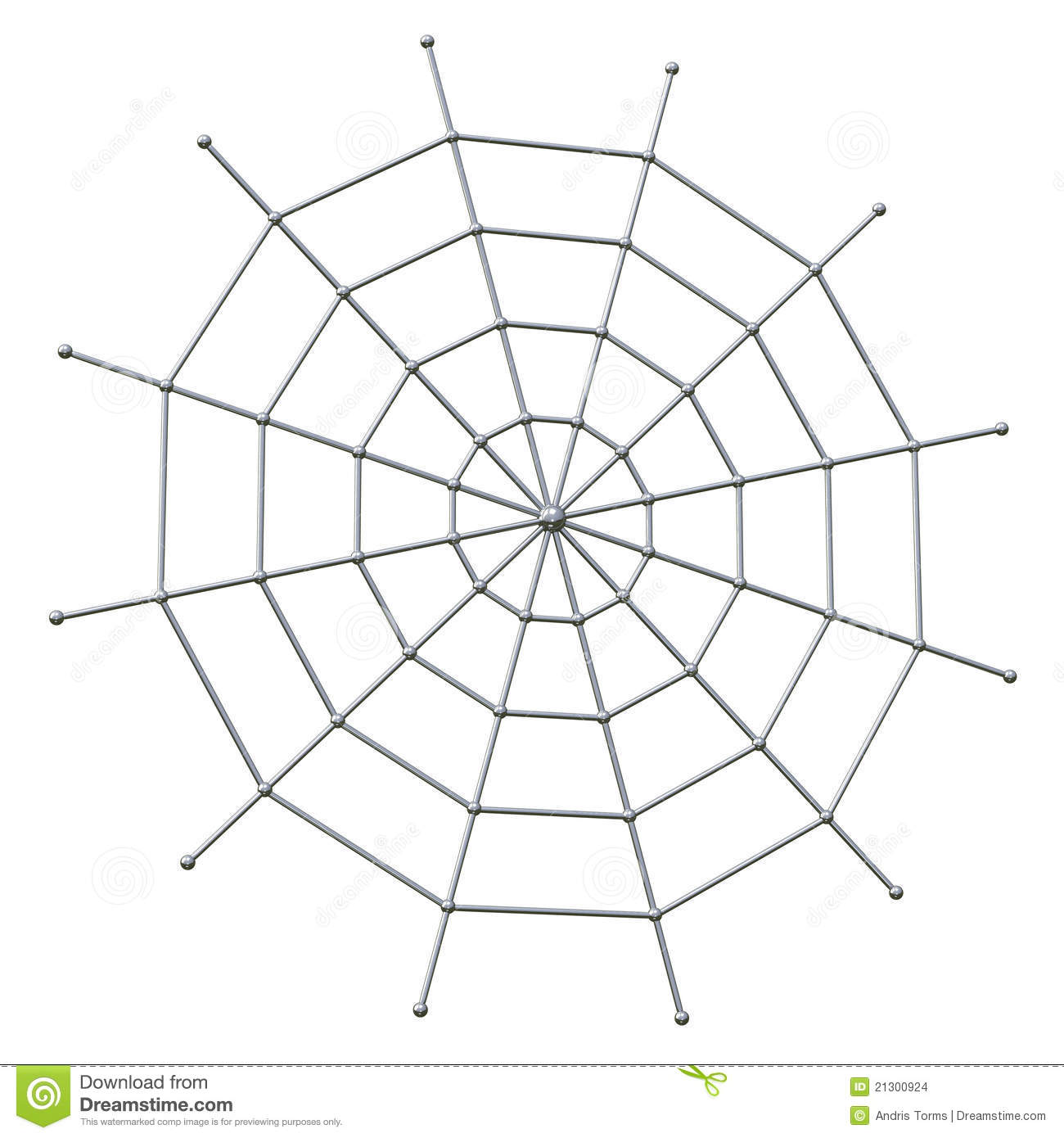 Spider Web 3d Stock Images