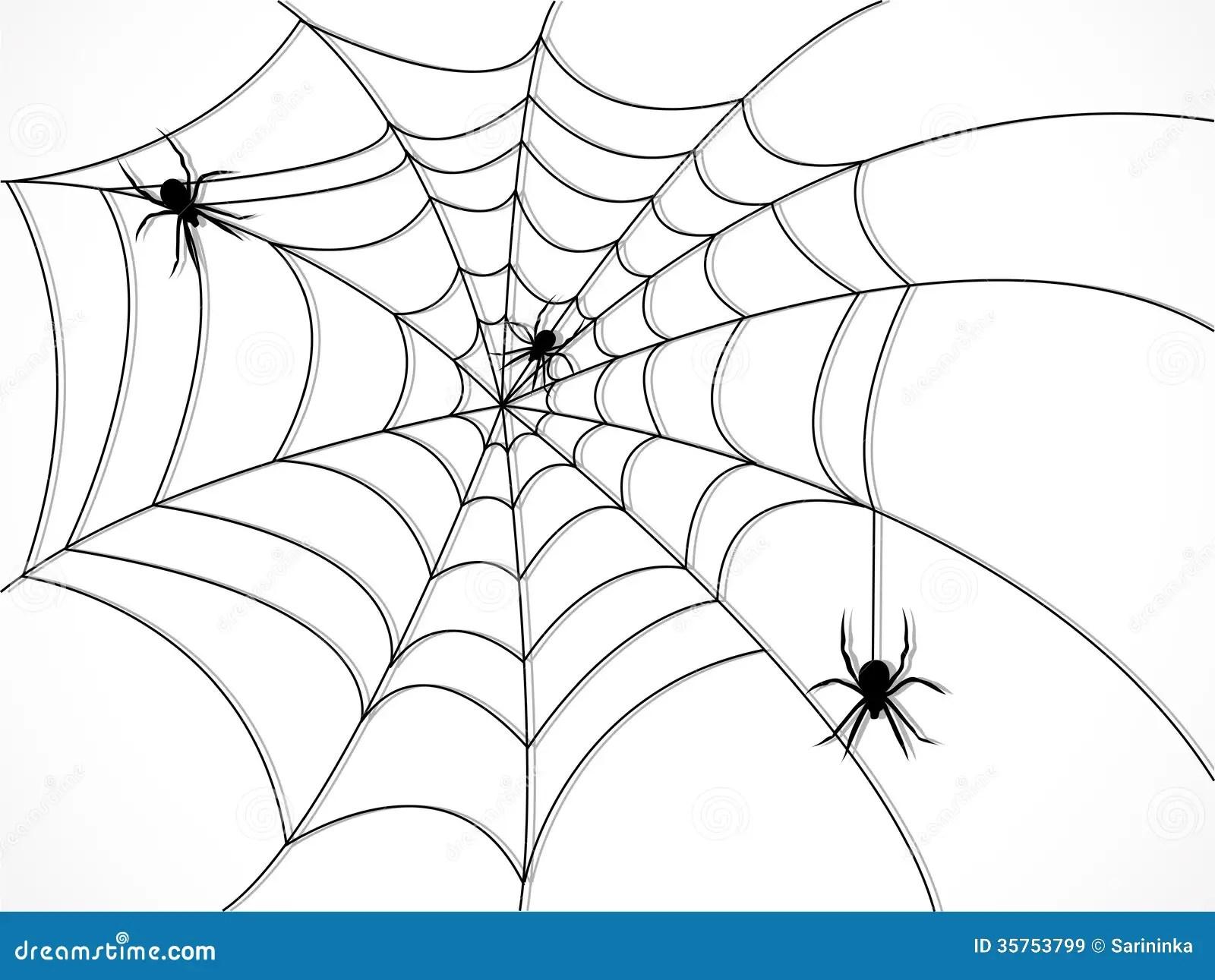 Spiderweb Silhouette