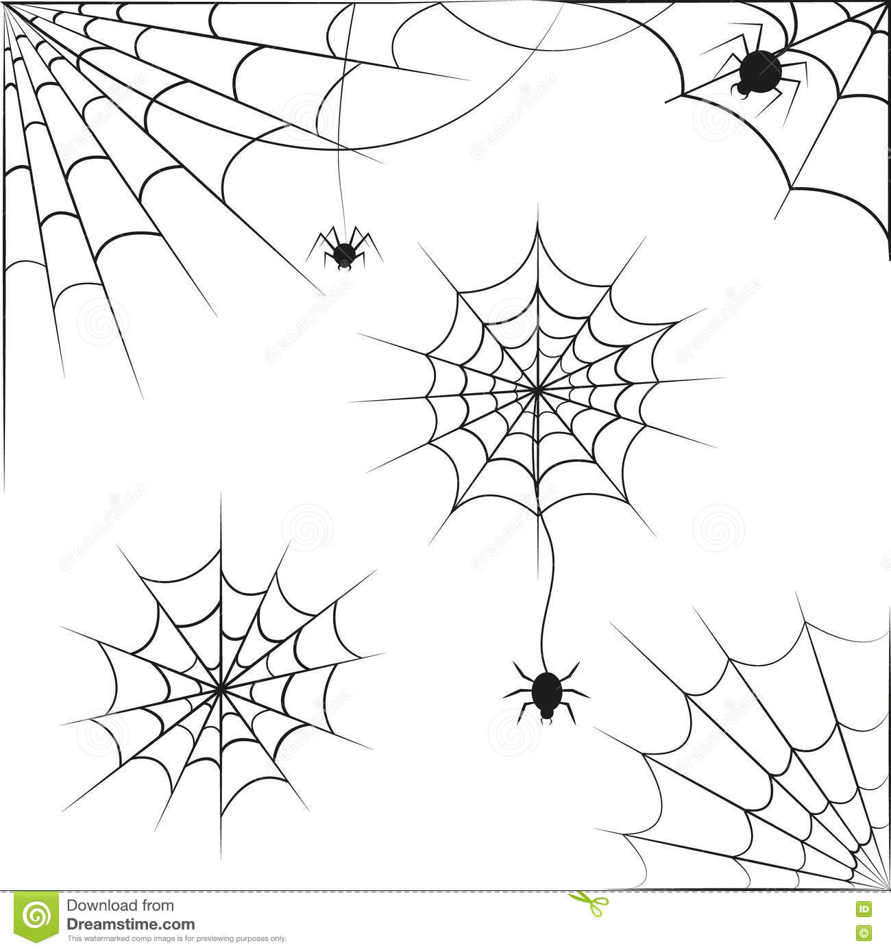 Spider Web Vector Pattern