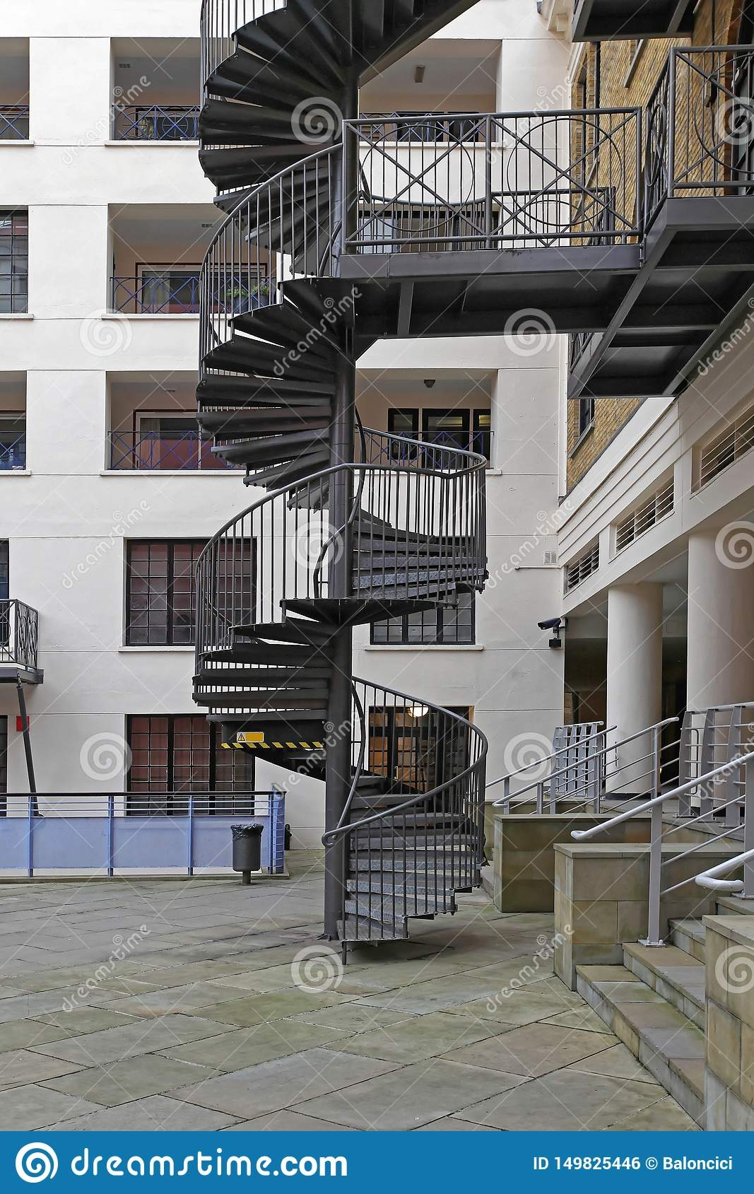 Spiral Staircase Stock Photo Image Of Steps Emergency 149825446   Spiral Staircase Near Me   Steel   Staircase Kits   Handyman Services   Handy Guy   Metal