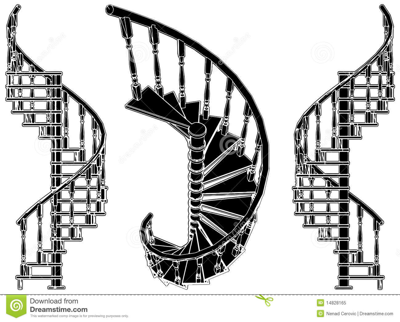 Spiral Staircase Vector 01 Stock Illustration Image Of