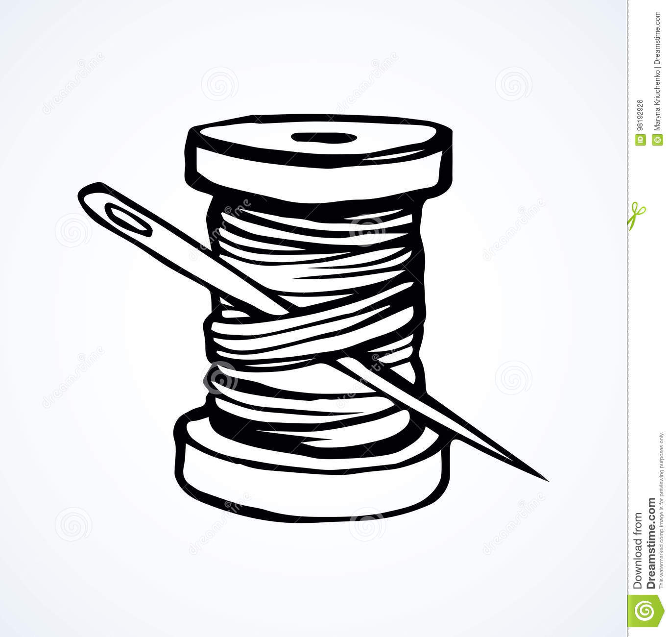 Thread Spool Vector Art
