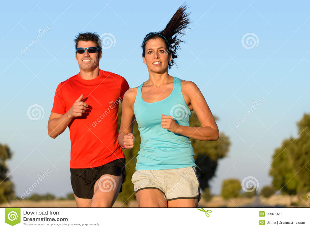 Sport Couple Running Royalty Free Stock Image