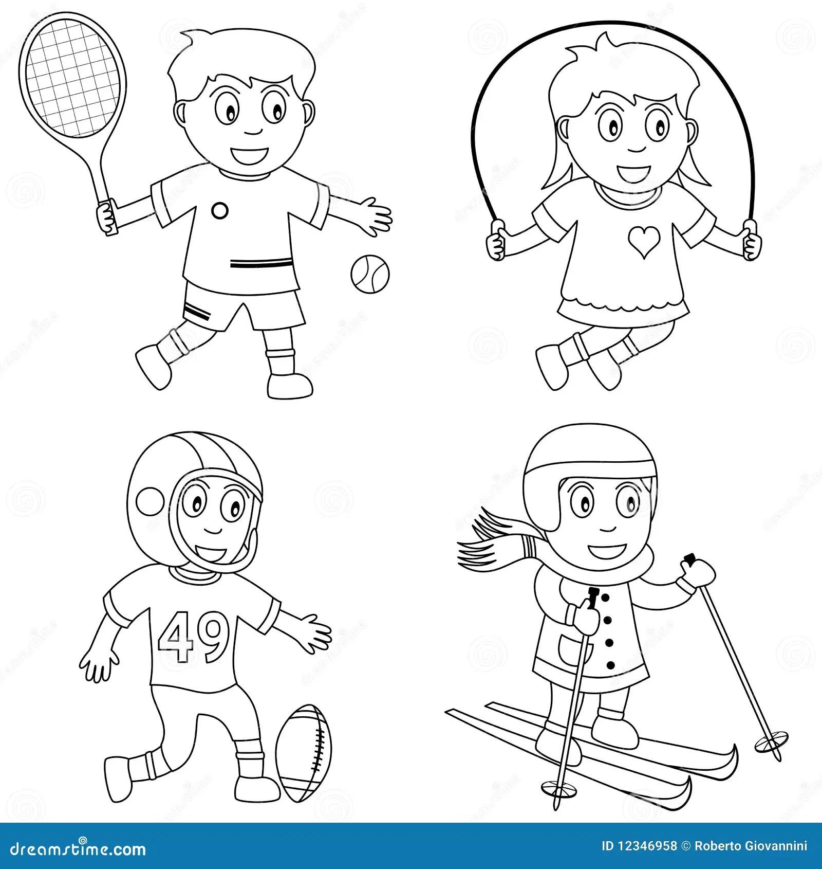 Sport De Coloration Pour Les Gosses 3 Photos Libres De