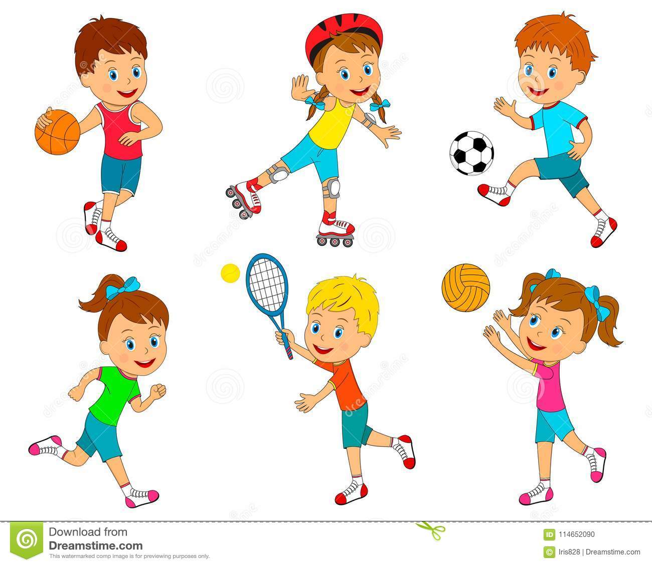 Sport For Kids Stock Vector Illustration Of Kids