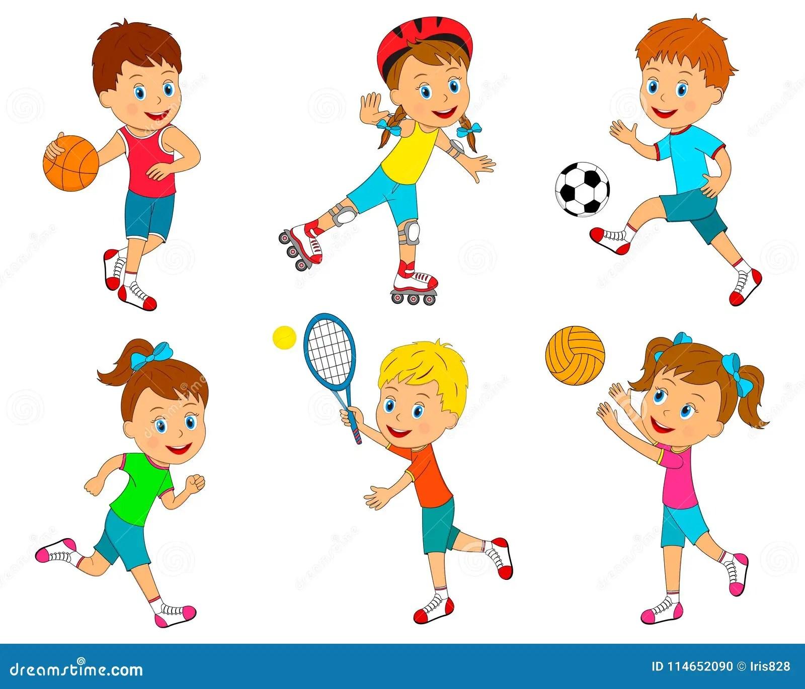 Sport Per I Bambini Illustrazione Vettoriale