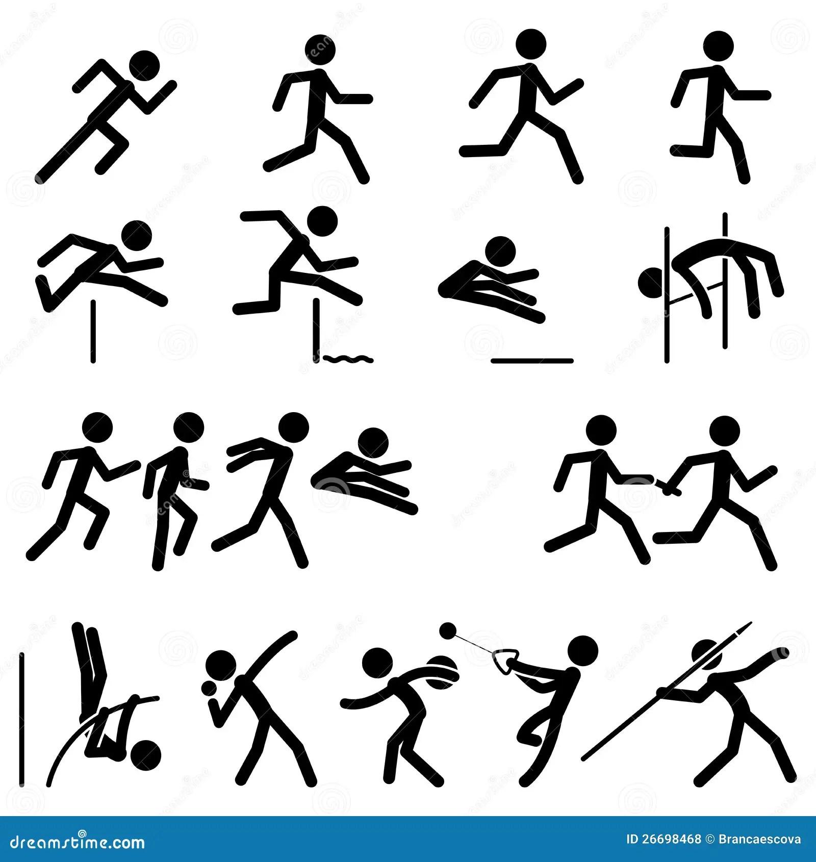 Sport Pictogram Icon Set 01 Cartoon Vector
