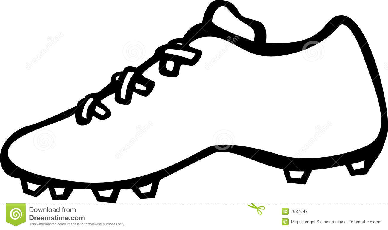 Sport Shoe With Cleats Vector Illustration Royalty Free