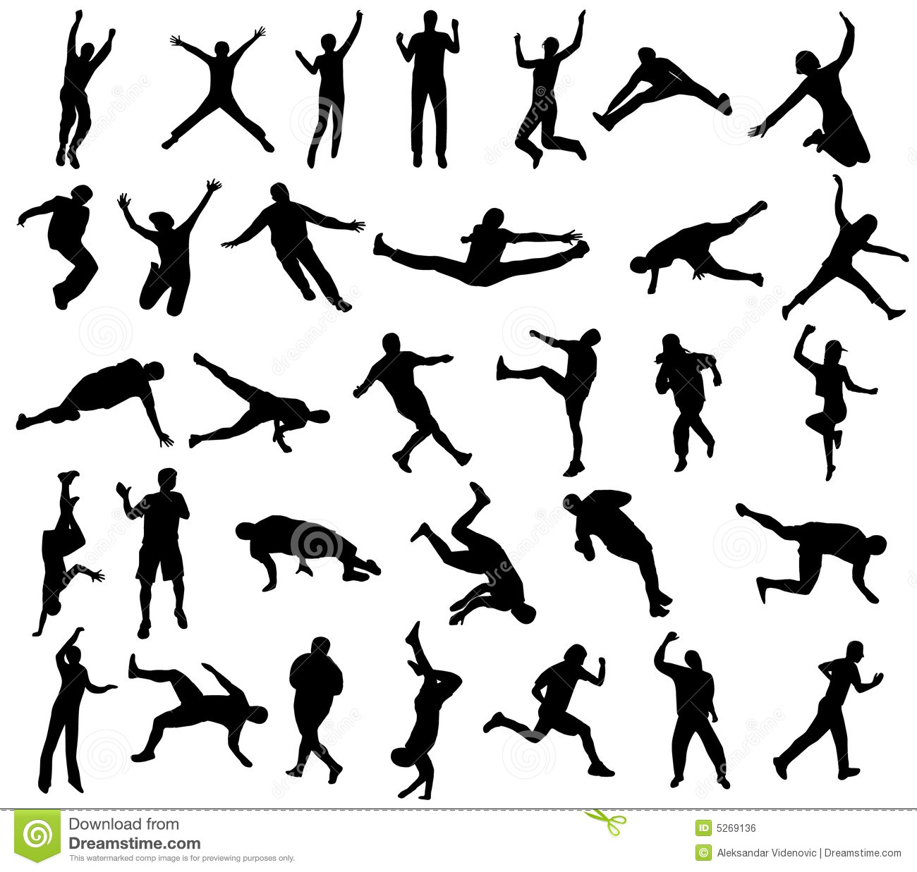 Sport Silhouettes Stock Vector Illustration Of Athletic