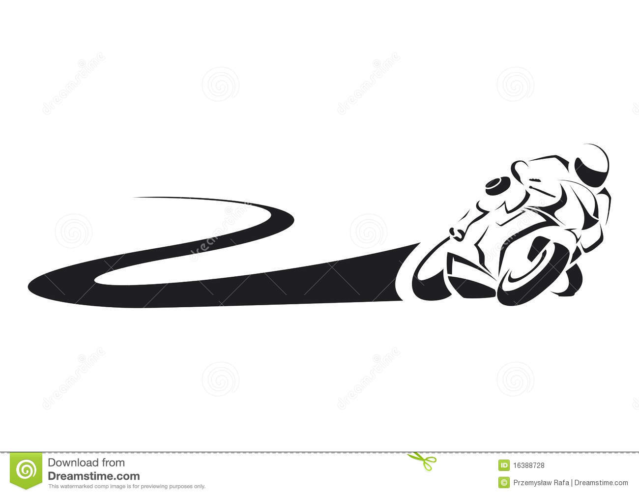 Sportbike On Track Stock Vector Image Of Motor Track
