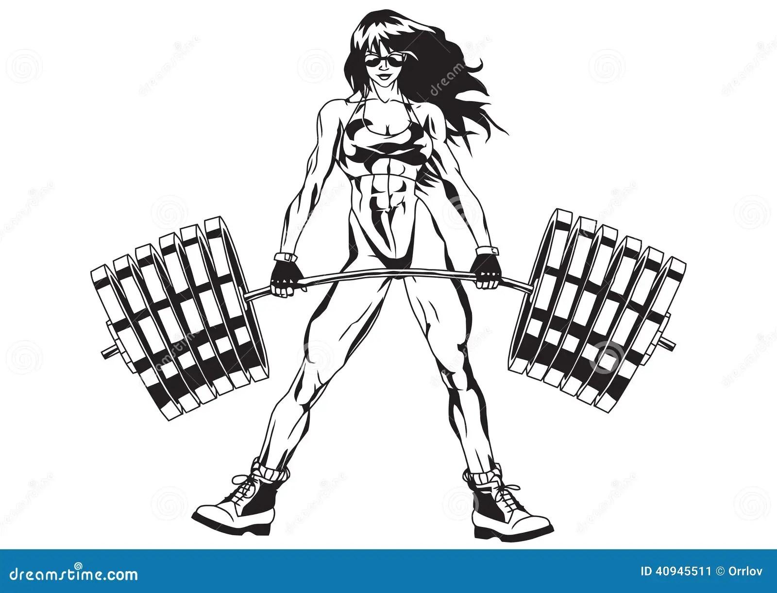 Sportowa Dziewczyna Ilustracja Wektor Ilustracja Z O Onej
