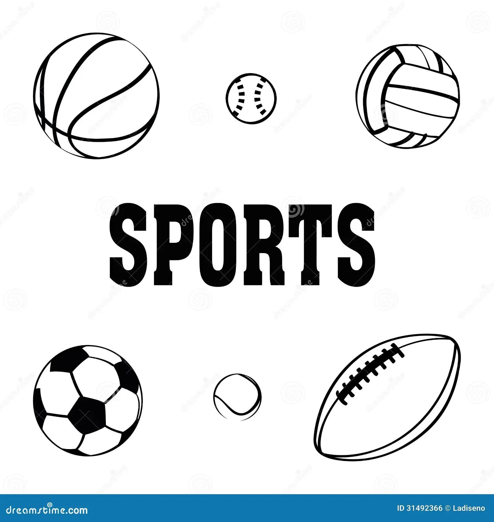 Sports Balls Stock Vector Illustration Of Tennis Ball