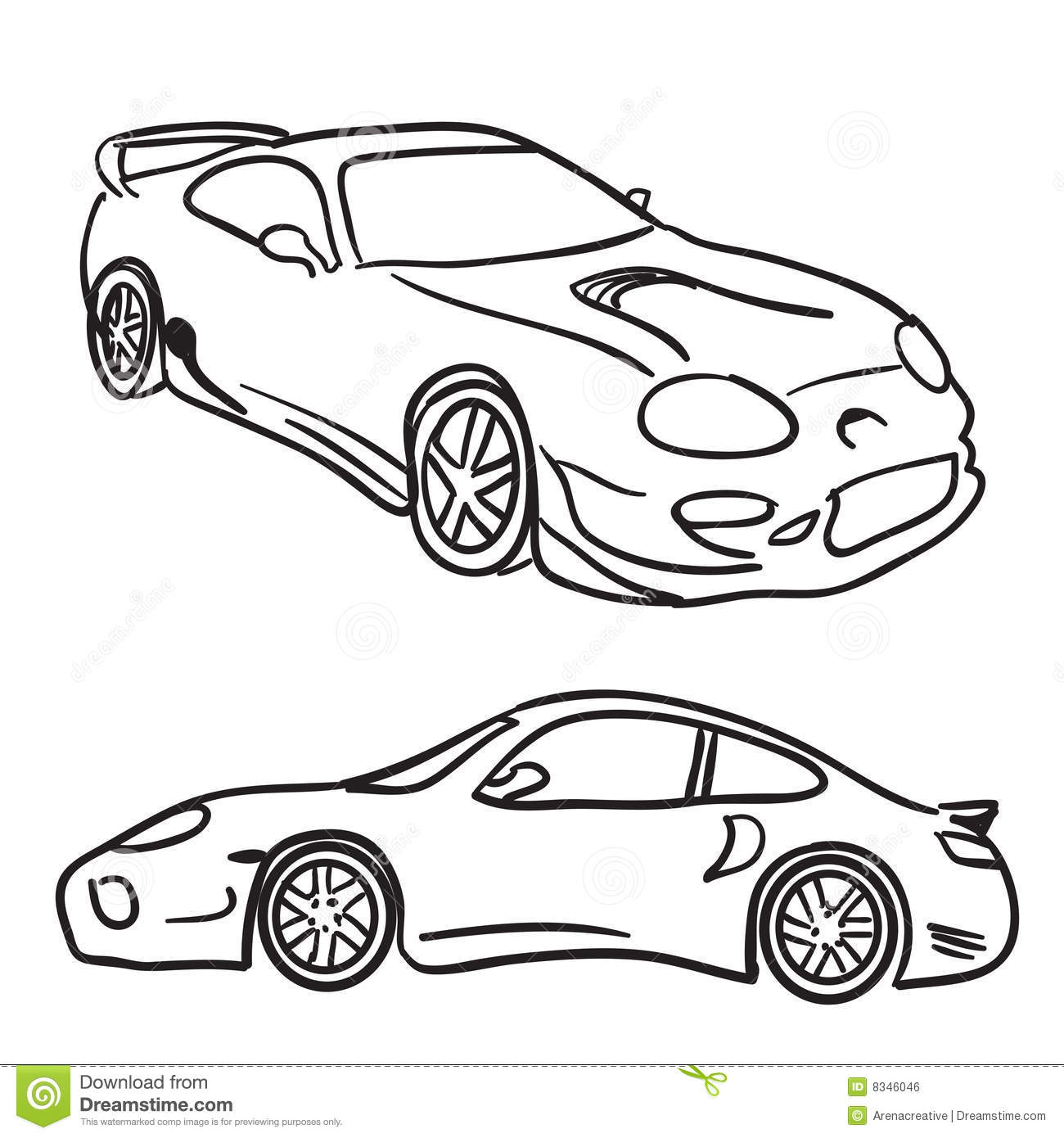 Sports Car Sketches Stock Vector Illustration Of Mirror