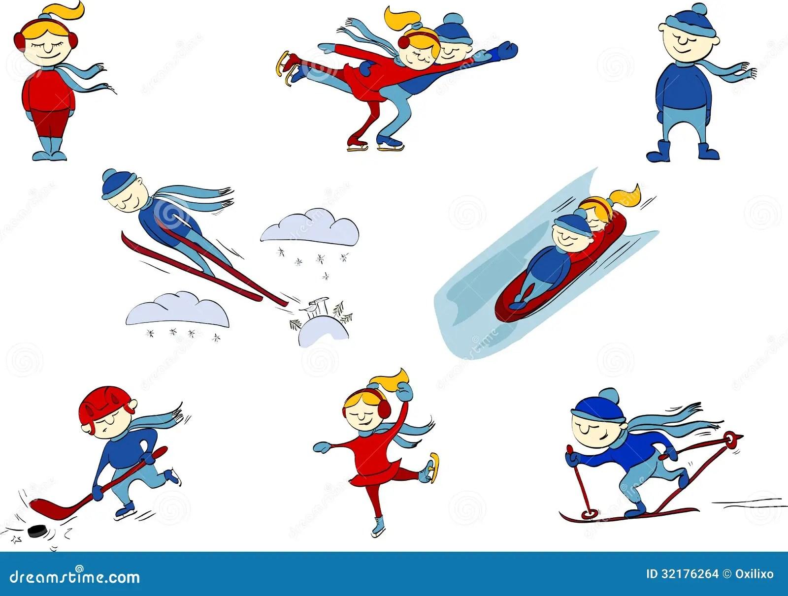 Sports D Hiver Hockey Patinage Artistique Ski Sauts