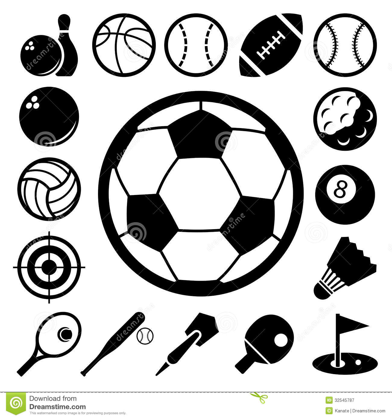 Sports Icons Set Royalty Free Stock Photography