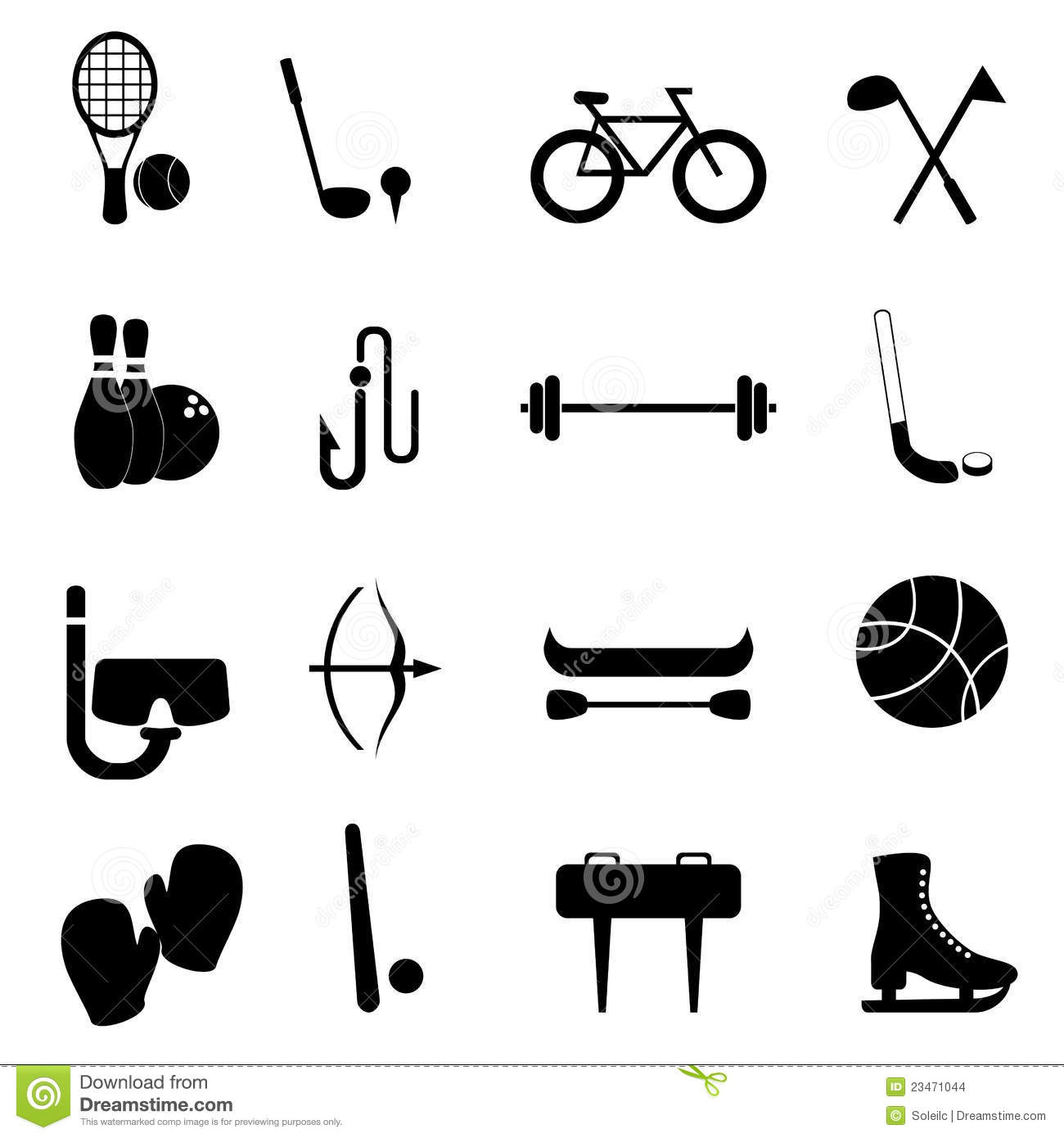 Sports And Leisure Equipment Stock Vector