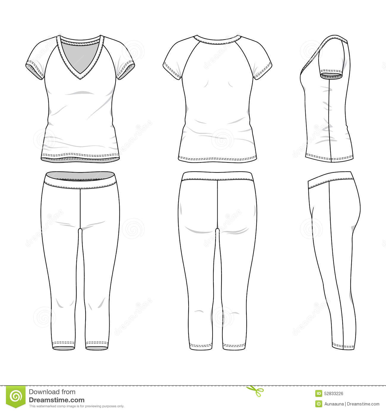 Sports Suit Stock Vector Illustration Of Pantaloons