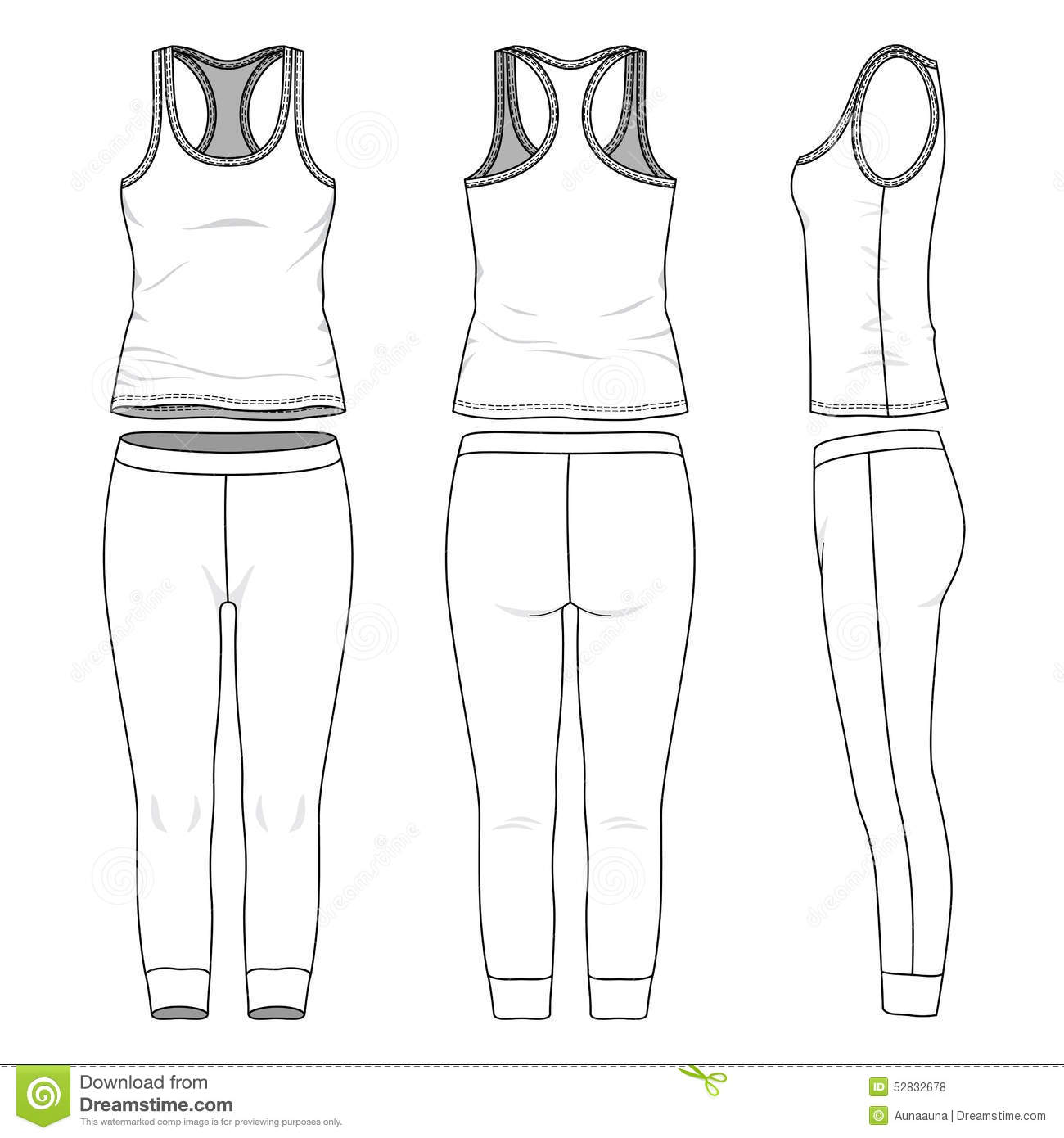 Sports Suit Stock Vector Illustration Of Casual Female
