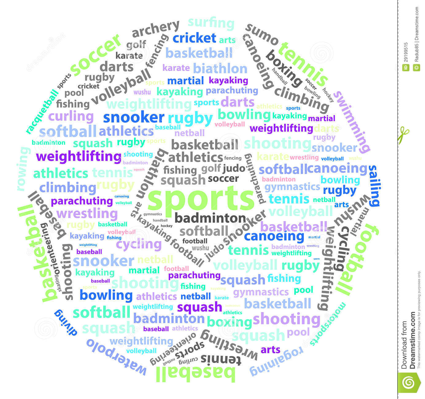 Sports Words Royalty Free Stock Photo