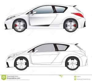 Sporty Car Illustration Vector Stock Vector  Image: 3678072