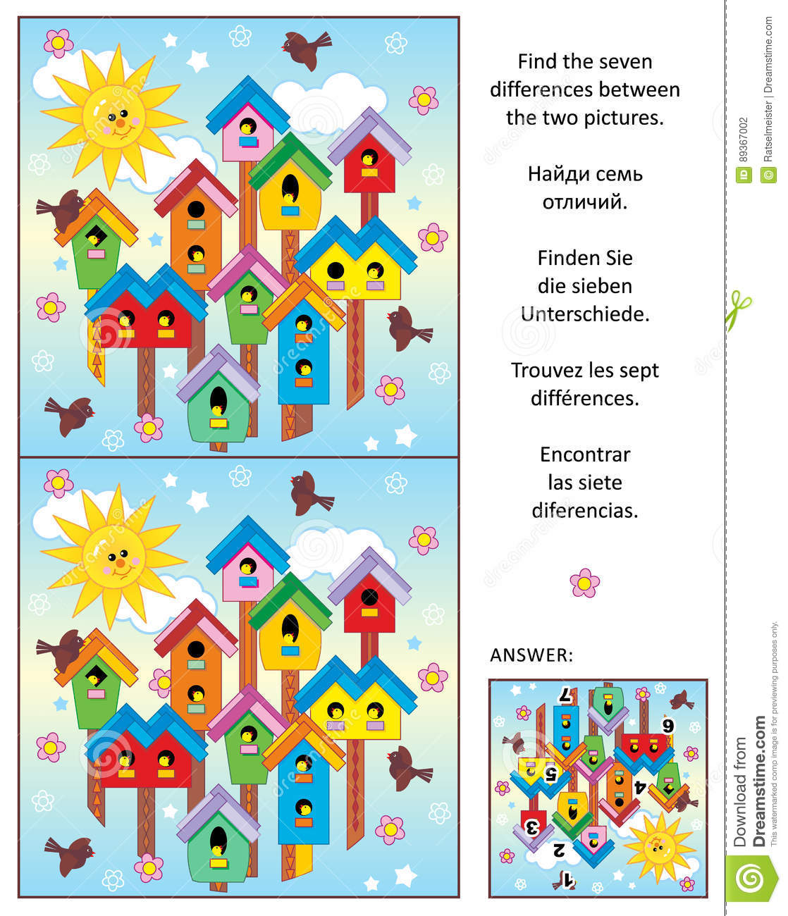 Spring Is In The Air Find The Differences Picture Puzzle