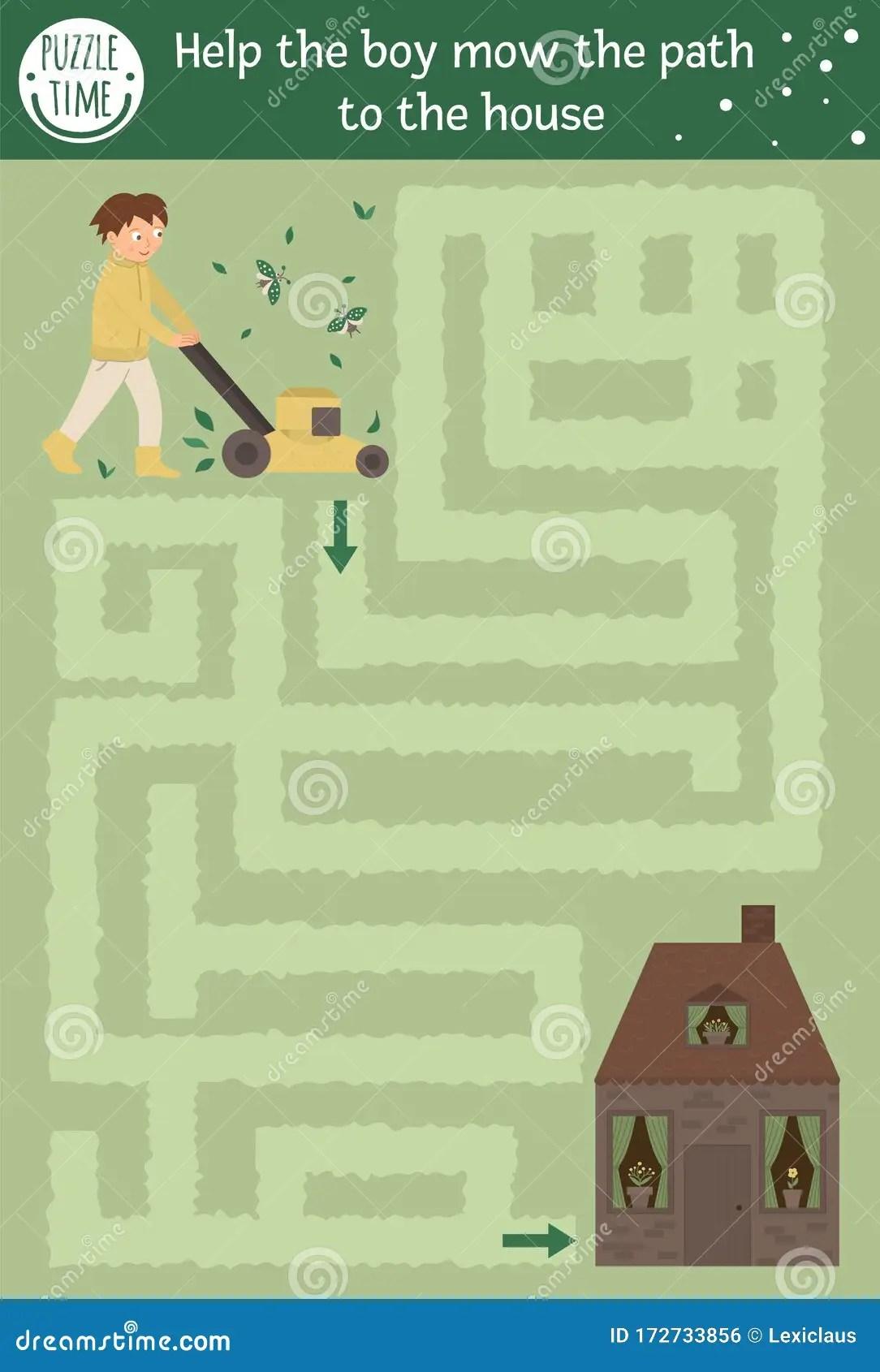 Spring Maze For Children Stock Vector Illustration Of