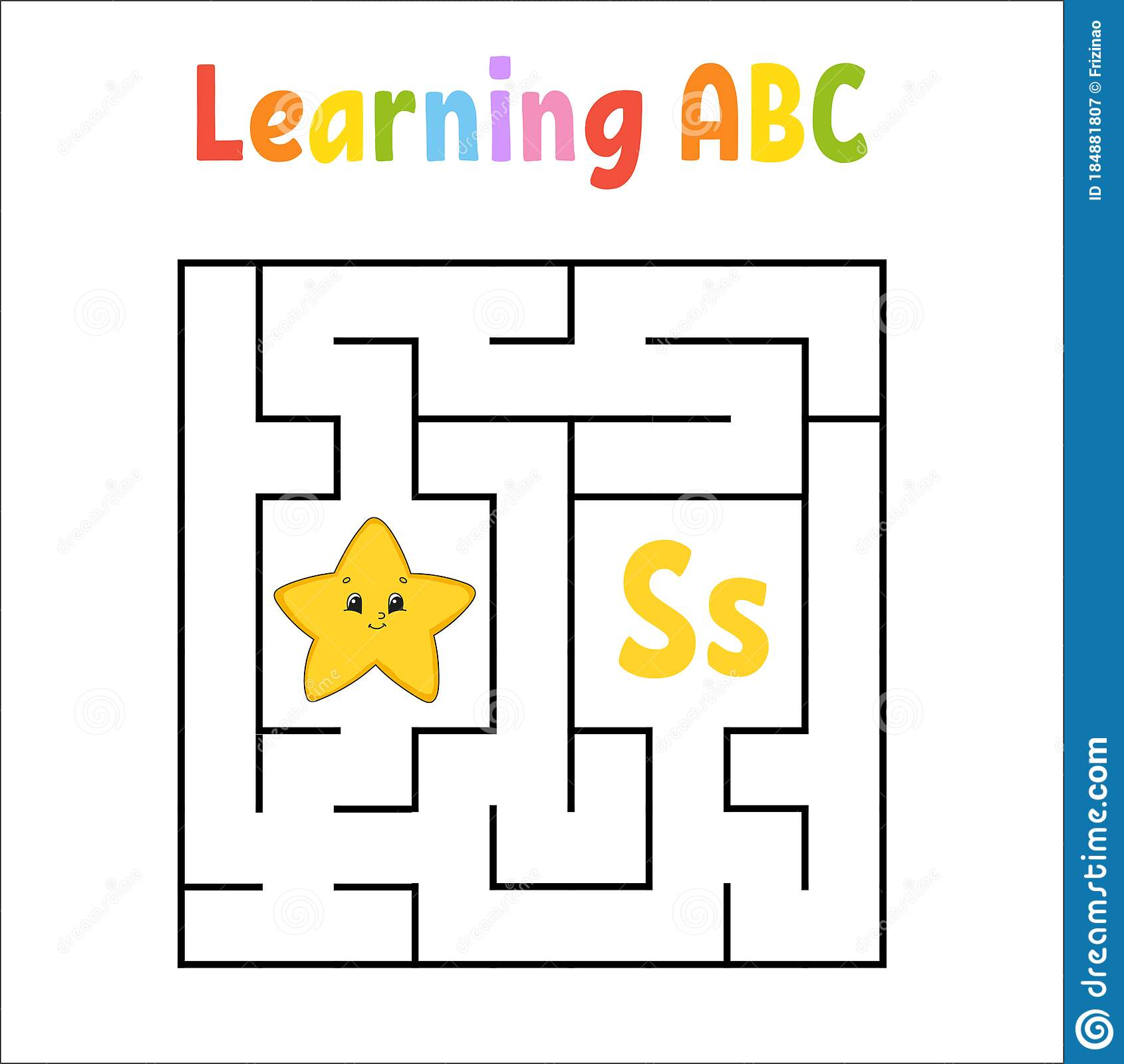 Square Maze Game For Kids Quadrate Labyrinth Education